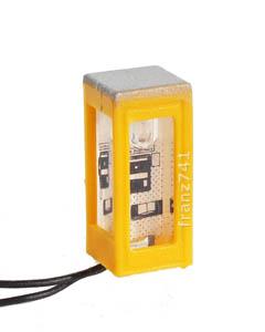 Brawa-4566-N-Modell-Leuchte-Telefonzelle-gelb