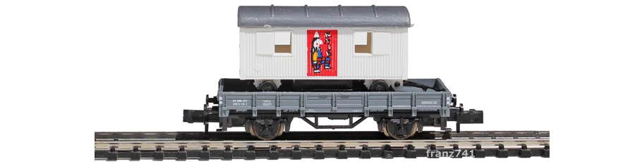 Arnold-0168-3-Kps-Niederbordwagen-KNIE-Set-Clownfigur