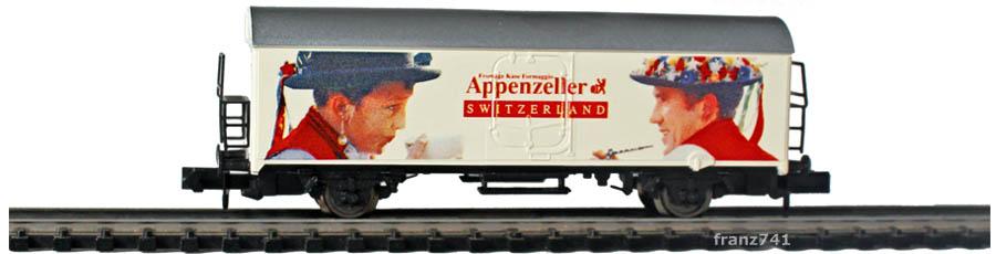 Arnold-0237-3-Schweizer-Kaese-Set-Kuehlwagen-SBB-APPENZELLER