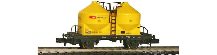 Arnold-4519-Silowagen-SBB-gelb