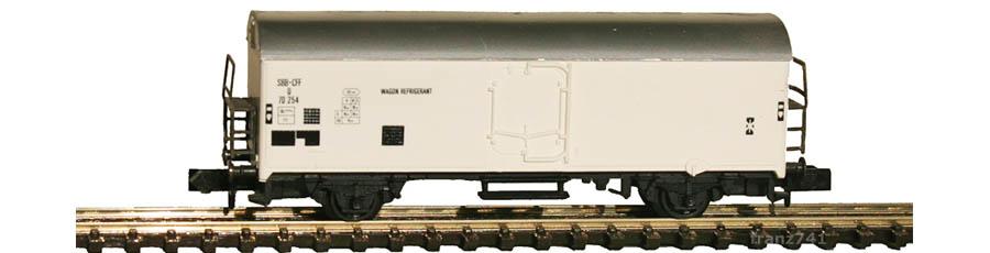 Arnold-4563-Kuehlwagen-SBB-weiss