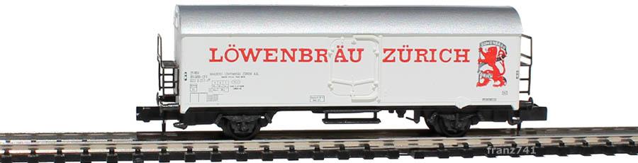 Arnold-4566-Kuehlwagen-SBB-Loewenbraeu-Zuerich