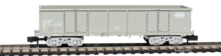 Arnold-4782-Eaos-Hochbordwagen-SBB-grau