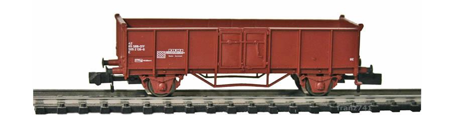 Arnold-4794-Hochbord-Gueterwagen-SBB-braun