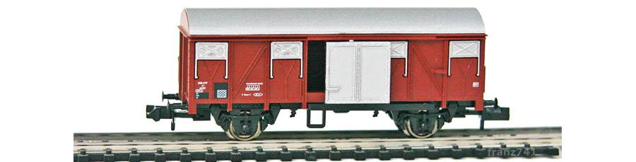 Arnold-4857-Gedeckter-Gueterwagen-SBB-braun