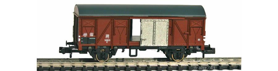 Arnold-Hornby-6003-Gedeckter-Gueterwagen-SBB-braun