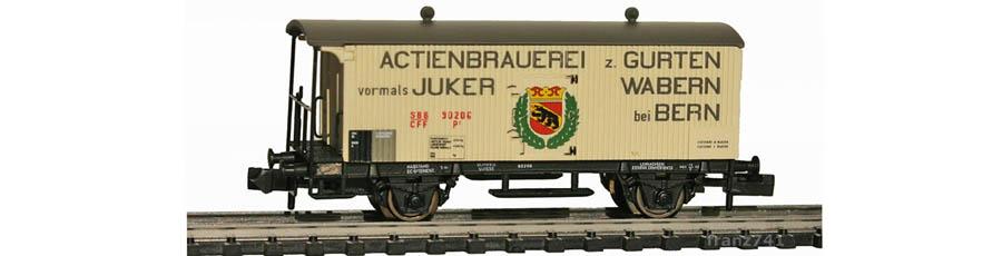 Arnold-Hornby-6020-Gueterwagen-Set-SBB_Gurten-Wabern-Bern