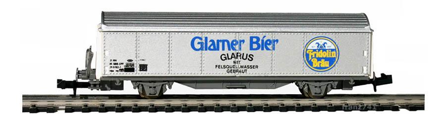 Baur-204b-Schiebewandwagen-GLARNER-BIER-Basis-Roco
