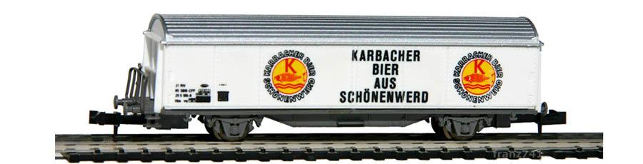 Baur-206-Schiebewandwagen-KARBACHER-BIER-Basis-Roco