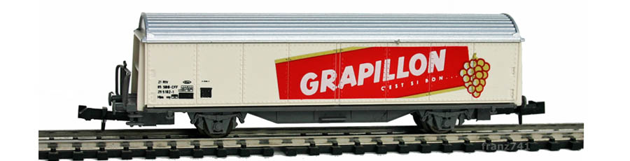 Baur-254-Schiebewandwagen-SBB-GRAPILLON-Basis-Roco