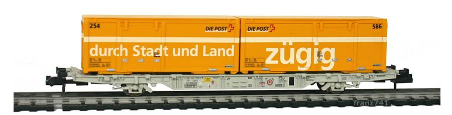 Creanorm-5012-Containerwagen-SBB-mit-Postcontainern_durch-Stadt-und-Land_zuegig