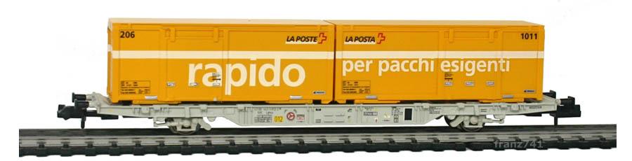 Creanorm-5014-Containerwagen-SBB-mit-Postcontainern_rapido_per-pacchi-esigenti