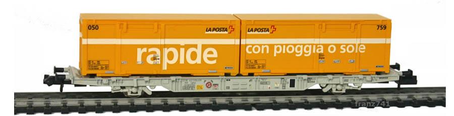 Creanorm-5016-Containerwagen-SBB-mit-Postcontainern_rapide_con-pioggia-o-sole