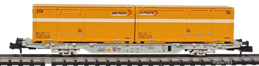 Creanorm-5021-1-Containerwagen-Set-mit-Postcontainern-gelb