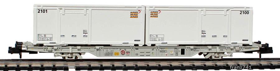 Creanorm-5021-2-Containerwagen-Set-mit-Postcontainern-weiss