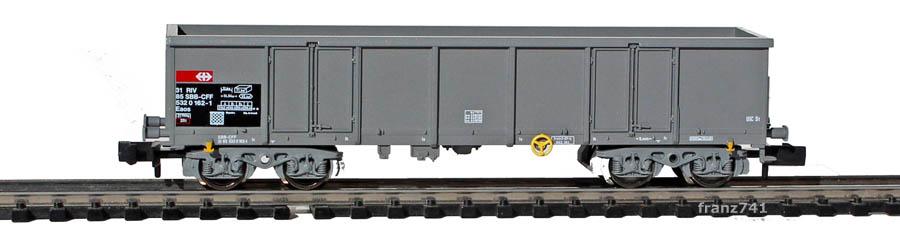 Fleischmann-8283-35-Eaos-Hochbordwagen-SBB-grau