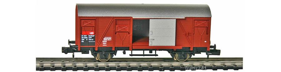 Fleischmann-8316-Gedeckter-Gueterwagen-SBB-braun