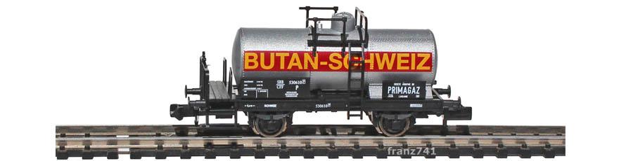 Fleischmann-8426-12-Kesselwagen-SBB-BUTAN-SCHWEIZ