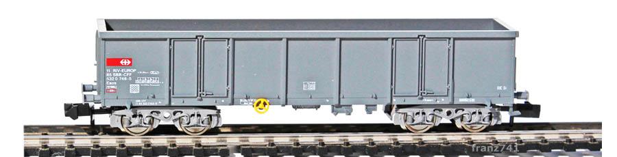 Fleischmann-91-8283-Hochbordwagen-SBB-grau