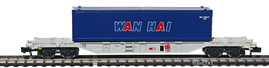 Fleischmann-Sgns-8244-04-Tragwagen-Container-WAN-HAI-SBB