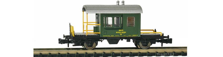 Hobbytrain-23041-Gueterzug-Begleitwagen-SBB-gruen-Sputnik