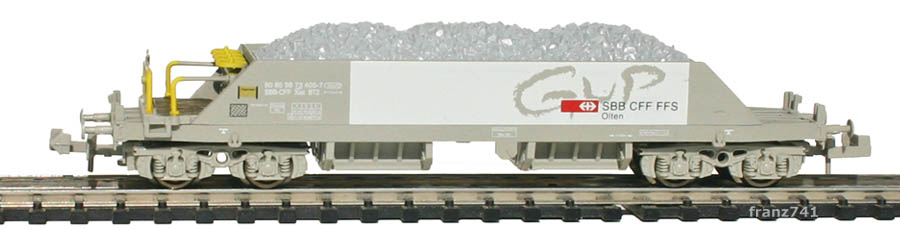 Hobbytrain-23052-1-Xas-Neuschotterwagen-SBB-GUP-Olten