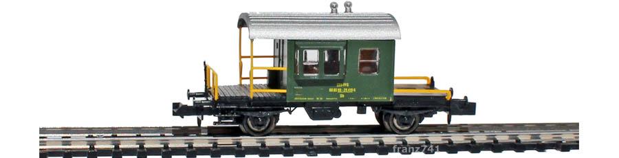 Hobbytrain-31031-Gueterzug-Begleitwagen-SBB-gruen_Seite1