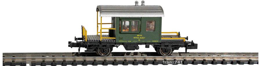 Hobbytrain-31032-Gueterzug-Begleitwagen-Sputnik-SBB-gruen