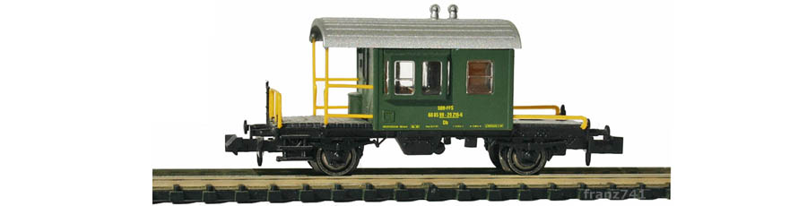 Hobbytrain-31033-Gueterzug-Begleitwagen-SBB-gruen