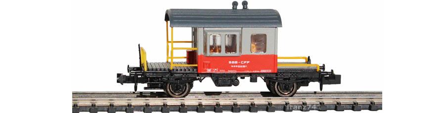 Hobbytrain-31034-Gueterzug-Begleitwagen-SBB-grau-orange