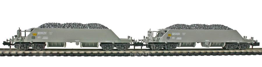 Hobbytrain-31050-Set-Neuschotterwagen-SBB-grau