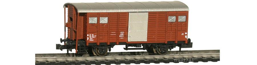 Hobbytrain-31071-Gedeckter-Gueterwagen-Bremserhaus-SBB-braun