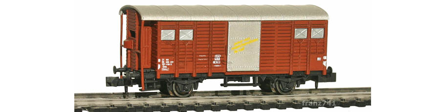 Hobbytrain-31075-Gedeckter-Gueterwagen-Bremserhaus-SBB-braun-D-F