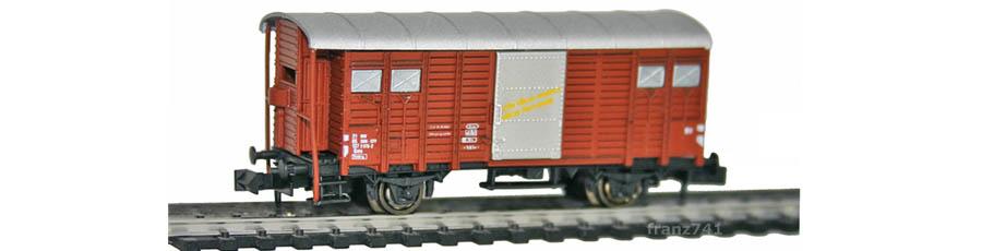 Hobbytrain-31076-Gedeckter-Gueterwagen-Bremserhaus-SBB-braun-D-I