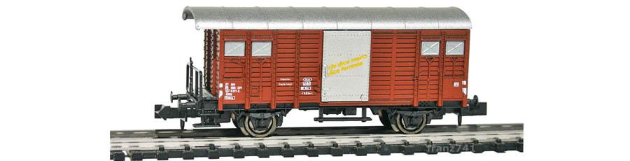 Hobbytrain-31078-Gedeckter-Gueterwagen-Bremserbuehne-SBB-braun-D-I