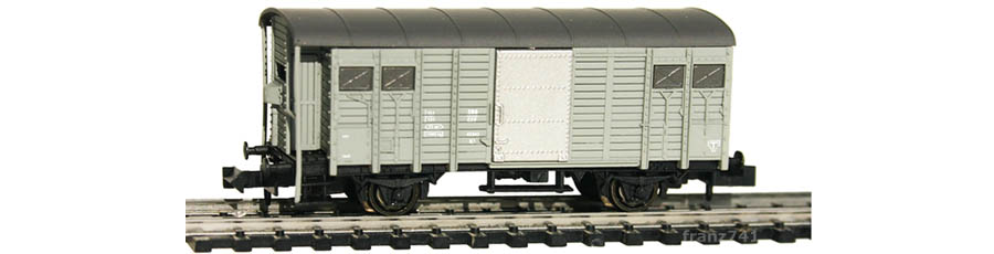 Hobbytrain-31081-Gedeckter-Gueterwagen-Bremserhaus-SBB-grau