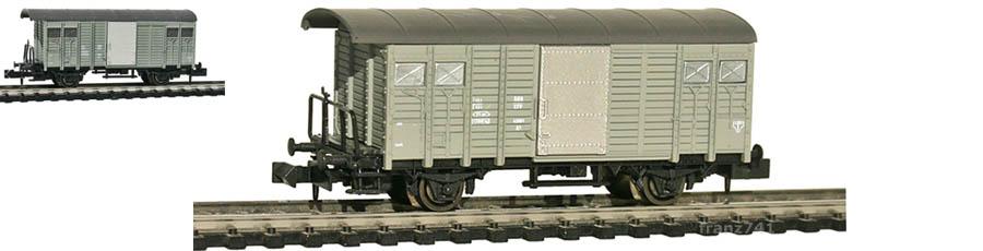Hobbytrain-31083-Gedeckter-Gueterwagen-Bremserbuehne-SBB-grau