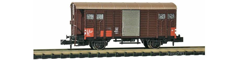 Hobbytrain-31091-Gedeckter-Gueterwagen-Bremserhaus-SBB-braun