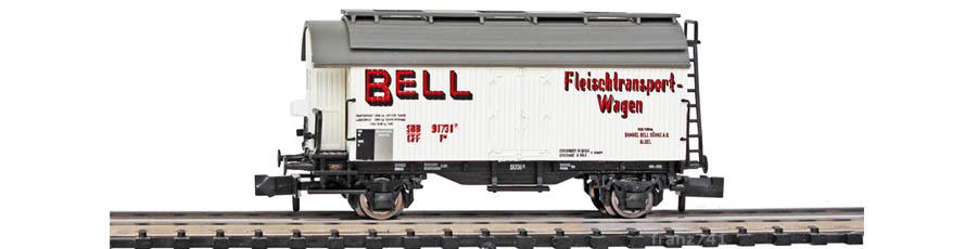 Liliput-L265110-Kuehlwagen-SBB-BELL-Fleischtransport-Wagen