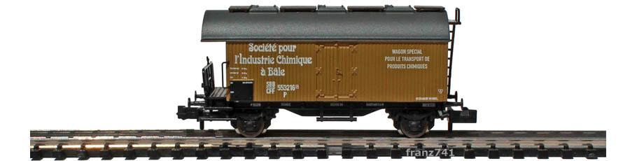 Liliput-L265115-Kuehlwagen-SBB-l-Industrie-Chimique-a-Bale