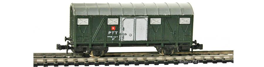 Lima-320458-PTT-Behelfspostwagen-SBB-gruen