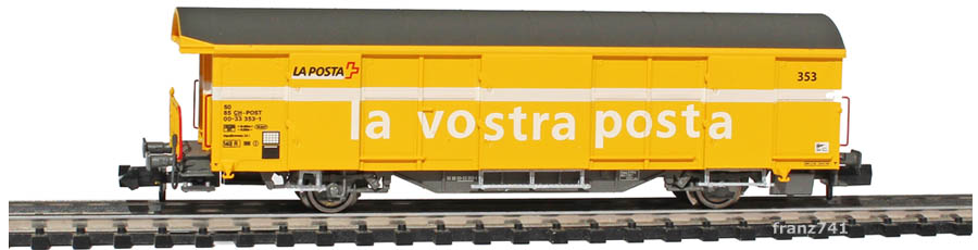 Mabar-86502-Z2-Postwagen-353-gelb-italienische-Beschriftung_1Seite