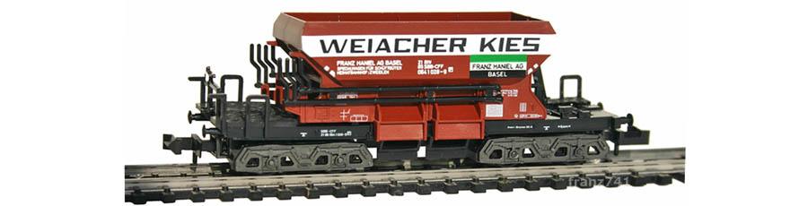 Minitrix-13294-Kieswagen-SBB-WEIACHER-HANIEL