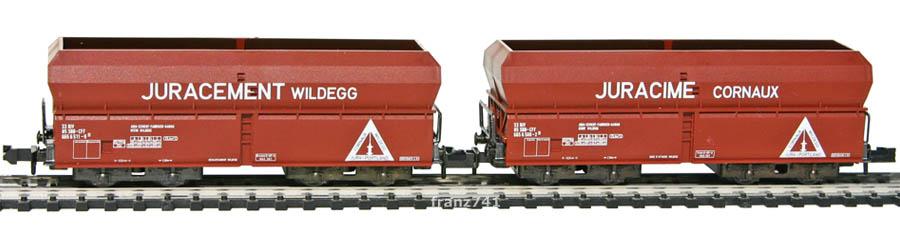 Minitrix-13608-Schuettgutwagen-SBB-JURACEMENT-WILDEGG