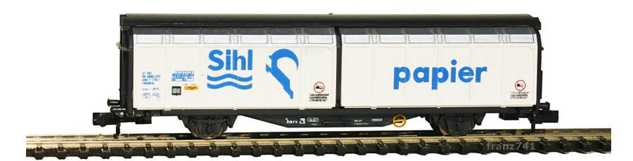 Minitrix-13874-Hbbillns-Schiebewandwagen-SBB-Sihl-Papier