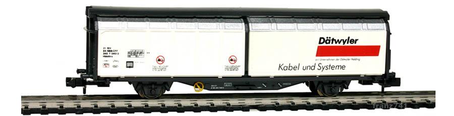 Minitrix-13876-Hbbillns-Schiebewandwagen-SBB-DAETWYLER