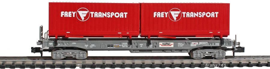 Minitrix-15045-3-sdkmms-Taschenwagen-Set-SBB-Container-Frey-Transport