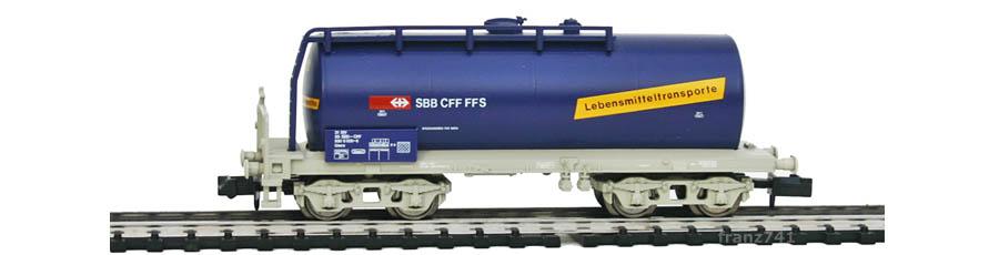 Minitrix-15164-Kesselwagen-SBB-Lebensmitteltransporte