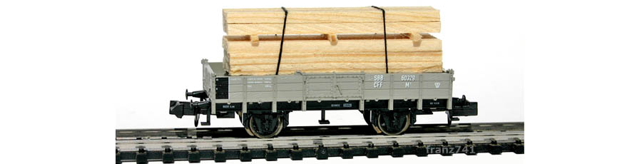 Minitrix-15175-Holztransportwagen-Set-SBB-60329-ohne-Bremserhaus