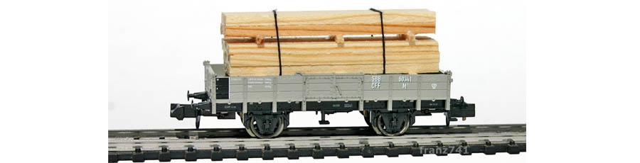 Minitrix-15175-Holztransportwagen-Set-SBB-60341-ohne-Bremserhaus